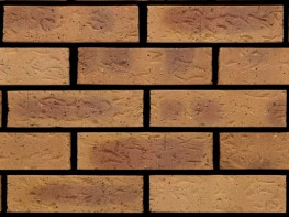 Wirecut brick (65mm), buff multi in colour with a rolled texture....