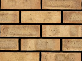Wirecut brick (65mm), buff in colour with a rolled texture....