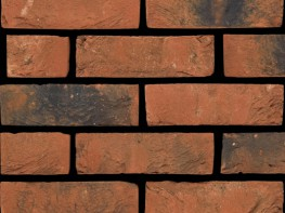 Stock brick (65mm), red in colour with a sandcreased texture....