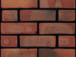 Stock brick (65mm), red in colour with a sandfaced texture....