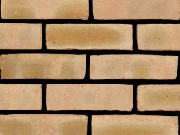 Stock brick (65mm), buff in colour with a sandfaced texture....