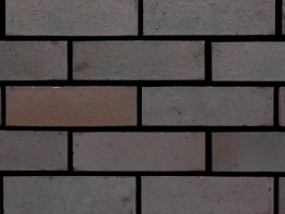 Wirecut brick (65mm), blue in colour with a smooth texture....