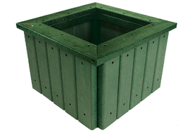 Recycled Plastic Planter with Rim image