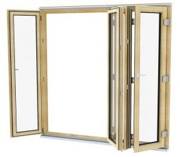 Triple glazed timber Bi-fold  image