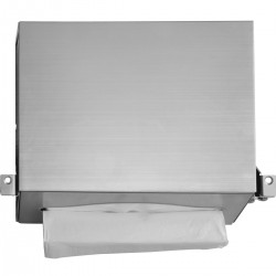 Behind Mirror Hand Towel Dispenser: - Suitable for high specification washrooms in airports, office blocks, schools etc... - High quality stainless steel - Unique restraint system allows both units to be fitted and removed from below - Refilled from below - Fi...