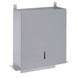 Behind Mirror Paper Towel Dispenser: - Holds C-fold or multifold towels - High quality stainless steel - Ideal for high class washroom designs - Easy to refill from below mirror - Hinged door at base - Designed to be located behind fixed mirror or panel - Reco...