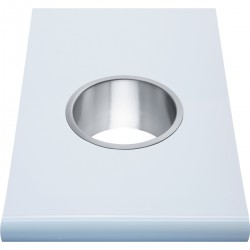 Prestige Counter Mounted Bin Ring: - Superior quality and timeless design for prestigious washrooms - Easy-care 18/10 chrome nickel stainless steel - Satin finish, welded corners no sharp edges - Surface cut out dimensions: diameter 155mm - Also available in p...
