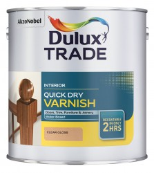 A water-based interior varnish containing polyurethane which gives a tough and durable finish. It can be used over bare wood and previously stained or varnished surfaces. Rapid drying properties allow work to be completed quickly. It is suitable for use on int...