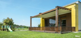 Gibus Slanted Pergolas - Med Jeans | Med Quadra 165 | Med Country Elite - Heat My Space & Alfresco365