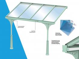 Glass Veranda / Polycarbonate Canopy - 10 YEAR guarantee - Heat My Space & Alfresco365