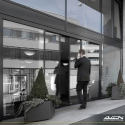 Gilgen SLX RC2-RC3 automatic doors are designed around our high quality Swiss designed SLX-M drive system combined with reinforced profile system, componentry and secure locking for improved protection against break-in / attack.
