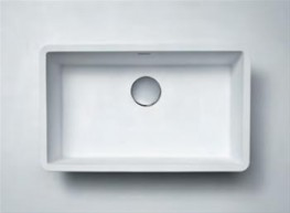DuPont™ Corian® 966 Single Sinks will blend into any room while adding an air of elegance. DuPont™ Corian® 966 Single Sinks are rectangular, nonporous, and stain resistant, fitting right into a Corian® countertop, for an almost perfectly seamless appear...