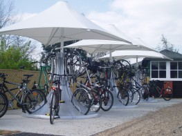 Cyclepod - Secure, Stylish Parking for 8 Bikes - Cycle Parking Rack image