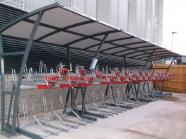 Easylift Premium - Gas-Assisted, Two Tier Bike Racks - Cycle Parking image