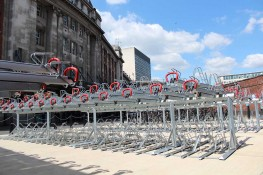 Easylift Premium - Gas-Assisted, Two Tier Bike Racks - Cycle Parking - Cyclepods
