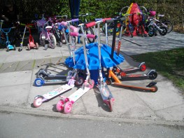 Scooterpod - Fun, Colourful Scooter Storage for Schools - Scooter Parking image