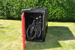 The Lockerpod+ cycle locker is the ideal bike parking solution for your home or business! Securing up to 4 bikes in a stylish design and manufactured in 100% recyclable material. The Lockerpod+ will keep your bikes secure and dry using a lot less space than yo...