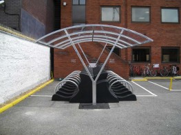 Newcastle Shelter - Stylish Doubled Sided Bike Shelter - Cycle Parking image
