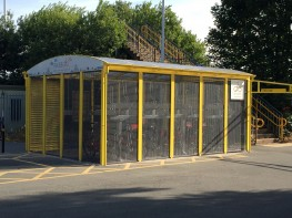 Winchester Shelter - Modular, Enclosed Cycle Storage Compound - Cycle Parking image