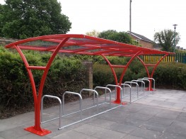 Harrogate Shelter - Stylish Cantilever Shelter - Cycle Parking image