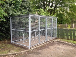 Gated Secure Bike Compound - Traditional, Secure Bike Compound - Cycle Parking image