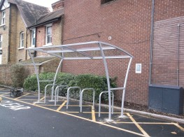 Padstow Shelter - Stylish, Modern Shelter Design - Cycle Parking image
