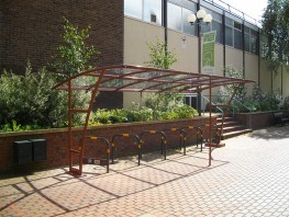 London Shelter - Stylish Cantilever Style Shelter - Cycle Parking image