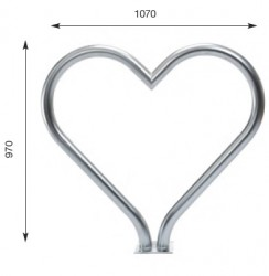 T-Love Bike Stand - Stylish Cycle Rack - Cycle Parking image