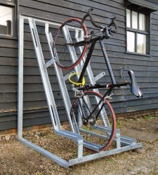 Gatwick Secure Semi-Vertical Bike Rack - Modular & Space Saving Bike Racks - Cycle Parking image