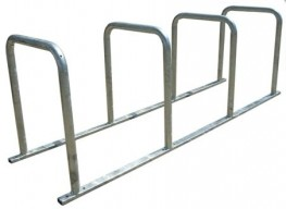 The 8 bike toast rack is an ideal solution for multiple bike parking and is available in a modular construction or fully welded. The surface should already be suitable for bolting onto – ideally concrete and level.