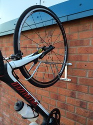 Bike Wall Hanger - Space Saving Vertical Rack - Cycle Parking image