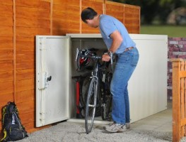 Horizontal Two Bike Locker - Cycle Parking - Cyclepods
