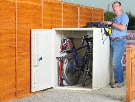 Horizontal Two Bike Locker - Cycle Parking image