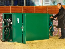 Horizontal Double Ended Bike Locker - Cycle Parking image