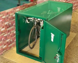 Horizontal Double Ended Bike Locker - Cycle Parking - Cyclepods