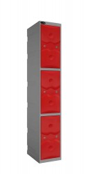 3 Door Plastic Locker - Changing Room/Facility Kit Lockers image