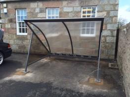 Bristol Cycle Shelter - Stylish Crescent Shelter - Cycle Parking image