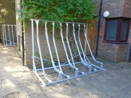 Sevenoaks Semi-Vertical Bike Rack - Space Saving Cycle Rack - Cycle Parking - Cyclepods