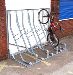 Sevenoaks Secure Semi-Vertical Rack - Modular & Secure Cycle Racks - Cycle Storage image