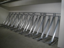 Semi-Vertical Bike Racks - Modular Cycle Racks - Cycle Storage image