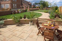 Heritage Paving is famous for its natural riven look and choice of colours and sizes that can beautifully complement any house or garden.  Cast from genuine split stone flags with Mason Fettled edges, Heritage paving is reminiscent of newly quarried Yorkstone....