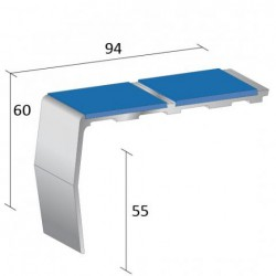 Quantum H-Range offers a number of heavy duty stylish aluminium and pvcu stair nosing solutions for use in most commercial applications including offices, retail, leisure, education and healthcare. Their higher gauge enables them to be fitted with a wide varie...
