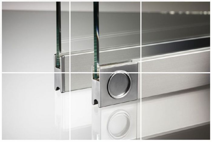 Horizontal Sliding Hatch Kit 6mm 2 Panel By All Glass Systems