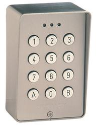 DGP keypad, surface BS316 grade s.steel anti-vandal. 30 codes / 3 relays, fully programmable. Requires 12V/24V AC or DC supply....