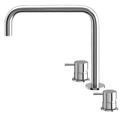 Flow Basin 3 Hole Deck Mixer without waste: