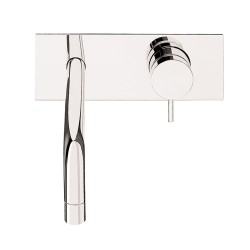 Flow Basin 2 Hole Wall Mixer with Back Panel, without waste: 