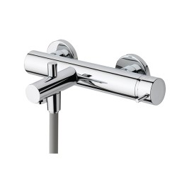 Flow Exposed Bath Shower Mixer Manual/Thermo, with shower kit: 