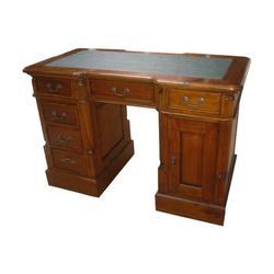 Mahogany Village Small Desk with Green Top image