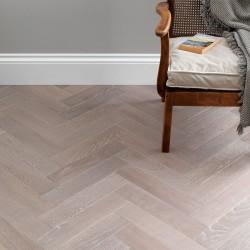 Herringbone Engineered Wood Flooring Goodrich Feather Oak - Woodpecker Flooring