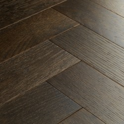 Herringbone Engineered Wood Flooring Goodrich Espresso Oak image